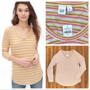 NWT striped waffle knit GAP shirt size M